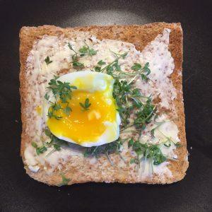 Kresse-Ei-Toast-Frühstück Lebendige Familienzeit