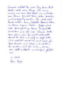 Brief Papa - Lebendige Familienzeit