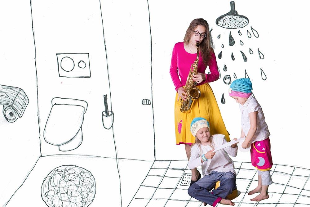 Musik in der Familie - Toilette